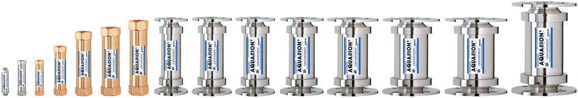 Mehrere Aquabion Modelle nebeneinander